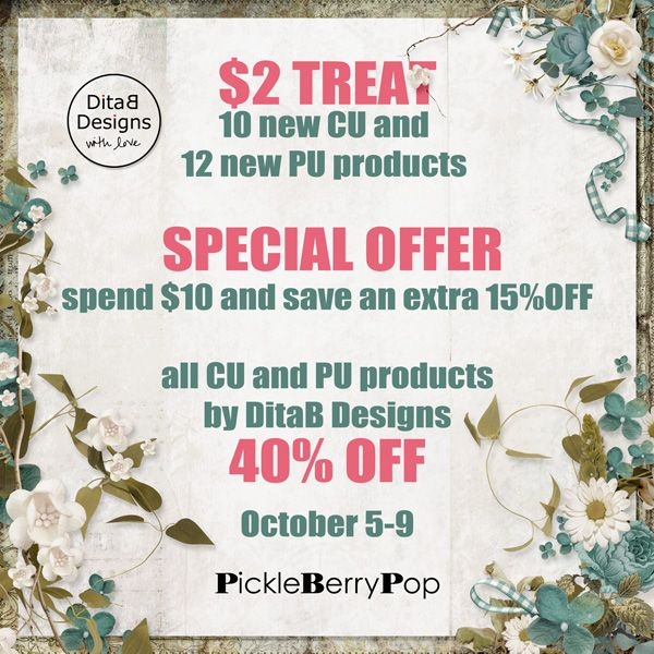 DitaB Designs:   SPECIAL OFFER by DitaB Designs  spend $10 and sa...