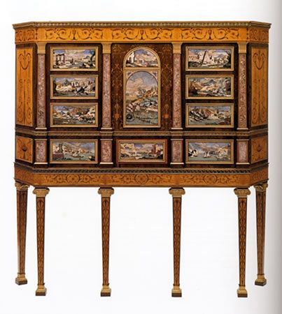 The Kimbolton Cabinet Designed By Robert Adam ; Cabinet Made In England By  Matthew Boulton U0026