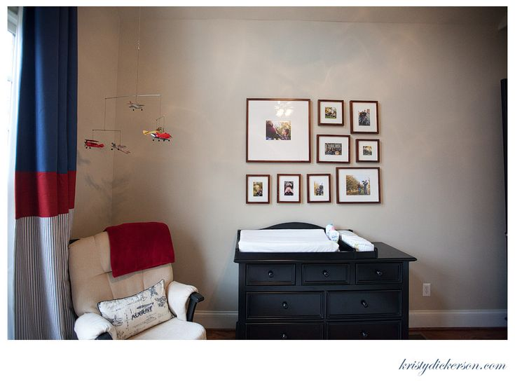 vintage airplane baby boys room - Kristy Dickerson Photography Blog