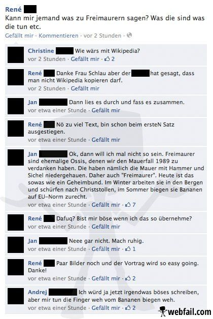 Der ostdeutsche Geheimbund - Facebook Fail des Tages 13.06.2014
