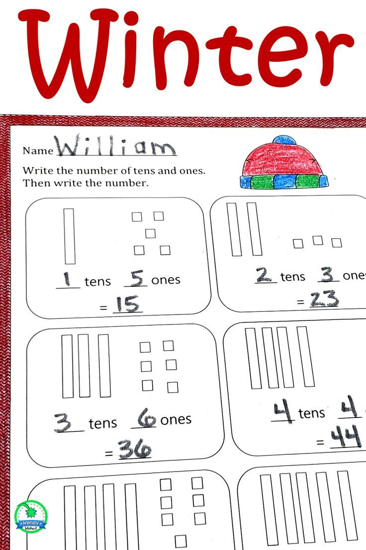 medium resolution of Winter Math Worksheets for First Grade with Digital Version   Winter math  worksheets