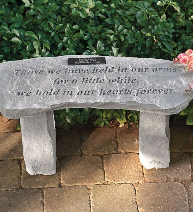personalized memorial garden bench