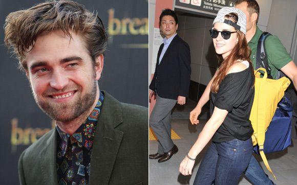 """As divulgações de """"Amanhecer – Parte 2"""" ao redor do mundo já começaram. E nesta segunda-feira (22), Robert Pattinson e Kristen Stewart foram as grandes estrelas, mas em países diferentes!   Robert Pattinson e Kristen Stewart divulgam """"Amanhecer – Parte 2″ pelo mundo! - Play - CAPRICHO"""