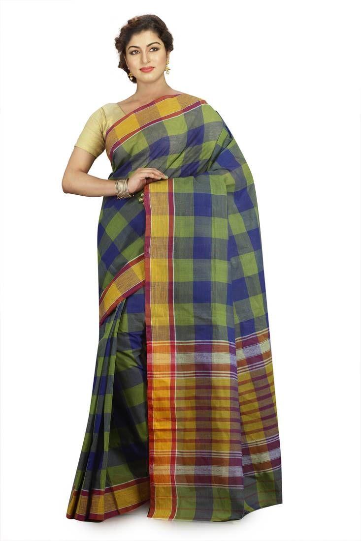 4fcf25264d Multicolor plain cotton saree | Cotton sarees | Cotton saree, Saree ...