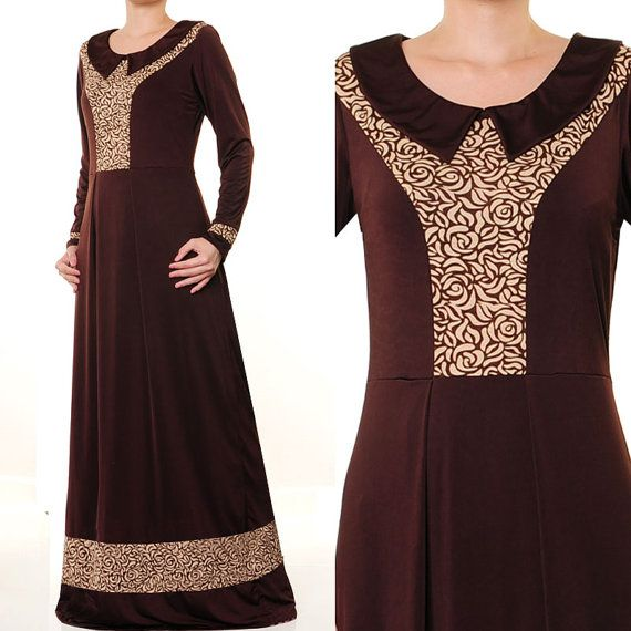 2629 Jersey Spandex Pan Collar Ladies Islamic Abaya by MissMode21, $34.00