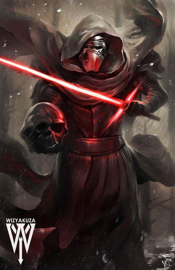 Kylo Ren - Star Wars: La fuerza despierta - impresión Digital de 11 x 17