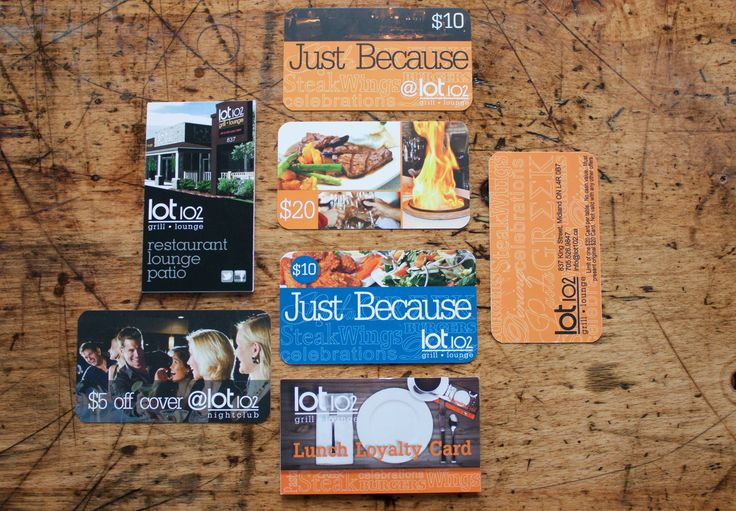Business cards make great loyalty cards, gift certificates, tags and more!