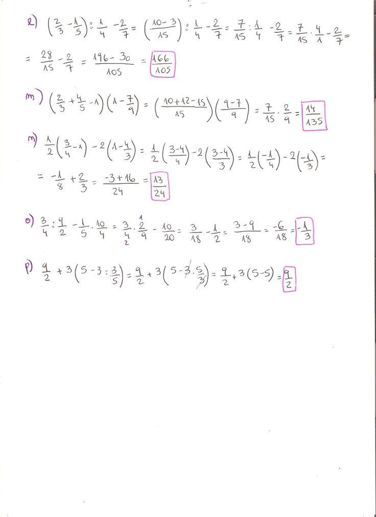 Ejercicios resueltos operaciones con fracciones. Grado Superior de Matemática. Parte 2