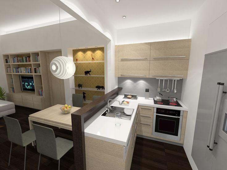 Konyha - látványterv / Kitchen - architectural visualization