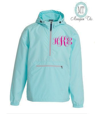 Excited to share the latest addition to my #etsy shop: monogram jackets, Lightweight Pack-N-Go Rain Jacket , Personalized Half Zip Pullover by Charles River Apparel, Lightweight Jacket, http://etsy.me/2nDdmE8 #clothing #jacket #jacketsandcoats #rainjacket #hoodie #mono