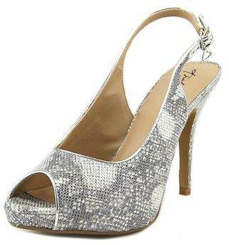 Thalia Sodi Camila Women Peep-toe Canvas Silver Heels.