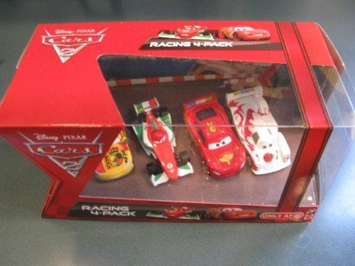 1:55 Scale Disney Cars 2 Movie Four Car Set 4-piece set features Lightning McQueen with Racing Wheels, Francesco Bernoulli, Shu Todoroki and Miguel Camino Target Exclusive 2011 by Mattel. $29.45. 1:55 Scale Disney Cars 2 Movie Four Car Set 4-piece set features Lightning McQueen with Racing Wheels, Francesco Bernoulli, Shu Todoroki and Miguel Camino Target Exclusive 2011. 1:55 Scale Disney Cars 2 Movie Four Car Set 4-piece set features Lightning McQueen with Racin...