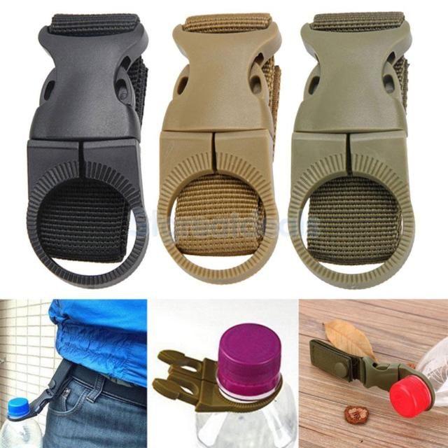Tactical Molle Hanging Strap Webbing Buckle Clip Water Bottle Hook Belt EDC Tool
