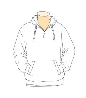 Download Blank White Outline Hooded Sweatshirt Template Drawing Clothes Hoodie Template Fashion Design Drawings