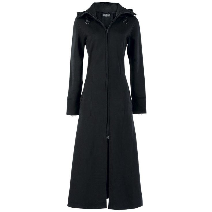 Light hooded coat made of soft sweat-material, with lacing on the back, stand-up collar, 2 side pockets, thumb holes and small studhole-applications on the sleeves and shoulders.