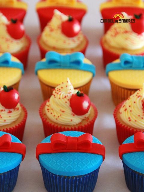 Cupcakes Branca de Neve