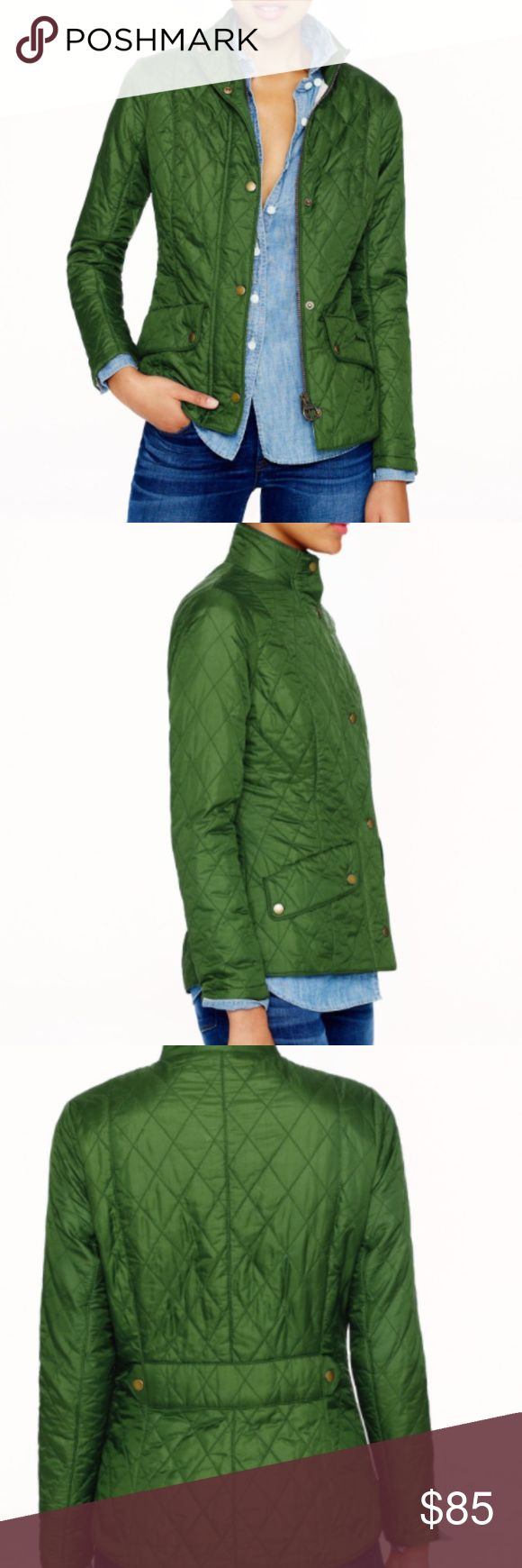 Barbour Flyweight Cavalry Quilted Jacket Bright Green Barbour Quilted Cavalry jacket. Perfect layer for spring and cool summer nights! Only worn a couple times. Barbour Jackets & Coats