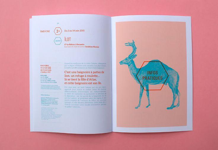 Les produits de l'épicierie, design graphique, Théâtre Dunois