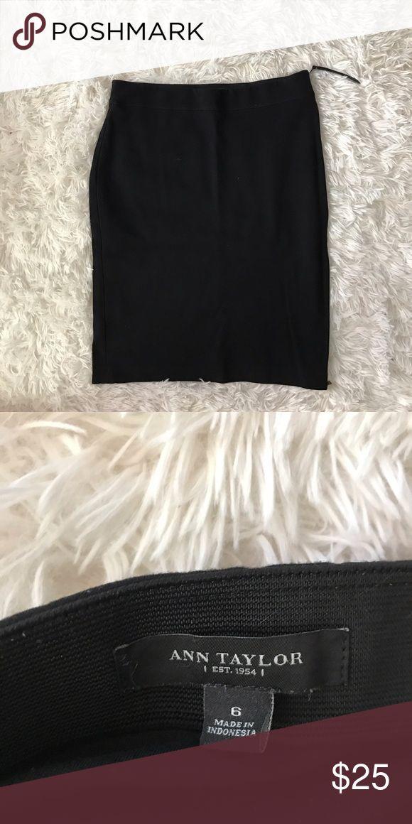 Ann Taylor Black Pencil Skirt Black pencil skirt with side zipper detail. Ann Taylor Skirts Pencil