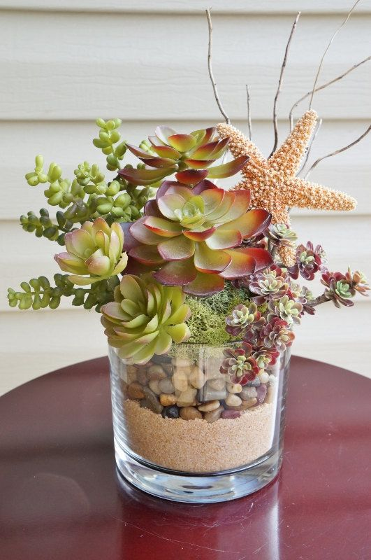 Succulents Artificial Succulent Arrangement by BrandyByDesignLtd