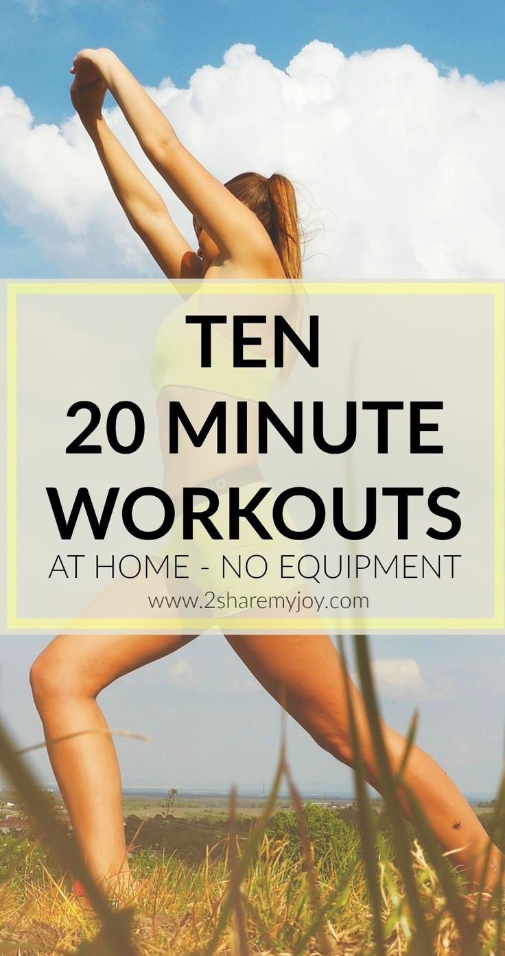 20 minute workouts for your living room without any equipment. Workout, lose weight and get fit at home!