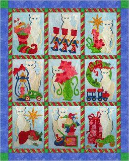 122 best Quilts - Cat images on Pinterest | Animal quilts, Cats ... : applique cat quilt patterns - Adamdwight.com