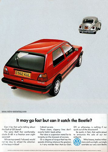 VW Golf Mk2 GTI Retro Car Advert