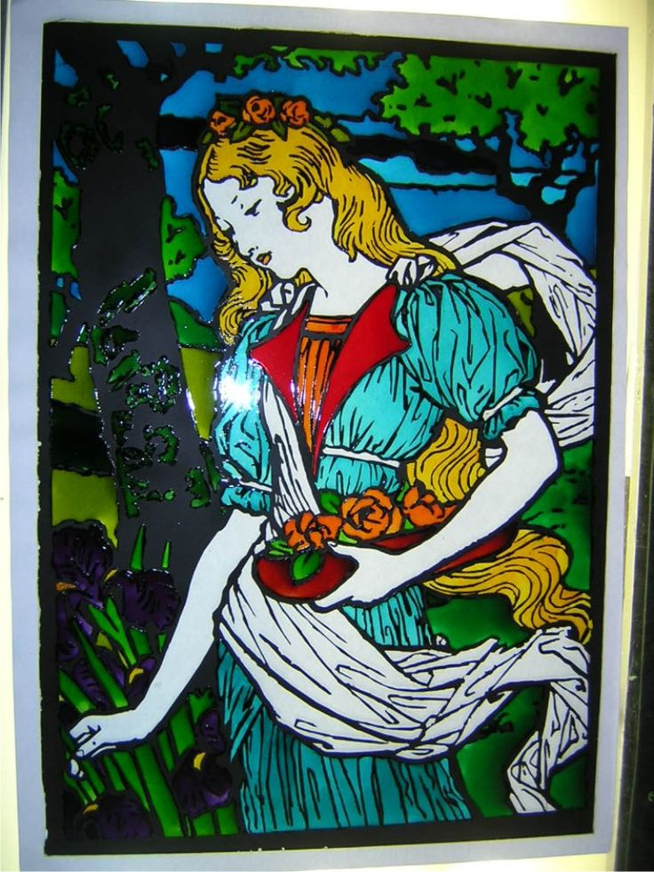 Glass painting (origin graphic from Dover)