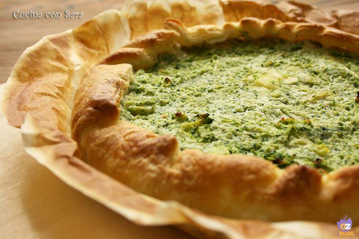 Torta salata broccoli e patate, un piatto unico sostanzioso, saporito e con verdure di stagione.