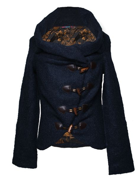 Deleia Cowl Neck Jacket By Desigual