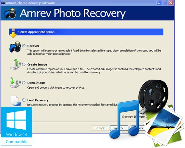 Best Photo recovery software – Amrev Photo recovery software recover deleted photos, images or pictures from memory card, digital camera, flash card, SD Cards, USB and hard drives.