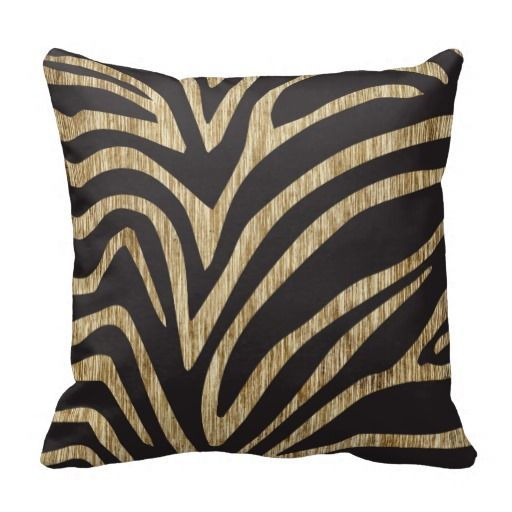 You will find a huge selection of zebra print pillows in all shapes and sizes. Black and white stripes are the favorites, but brown and white stripes are also very popular too. Let your inner zebra rejoice over these beautiful animal pillows.