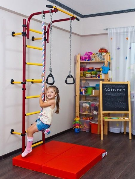 Indoor sport playground gym for kids gymnastic rings