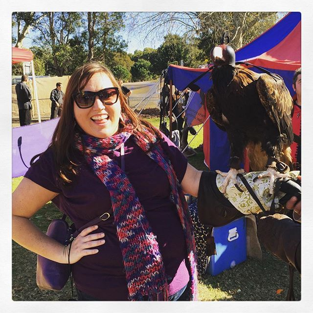 Meet Zorro the wedge tailed eagle! Bucket list achieved: Falconry #holidays #bucketlist #medievalfair