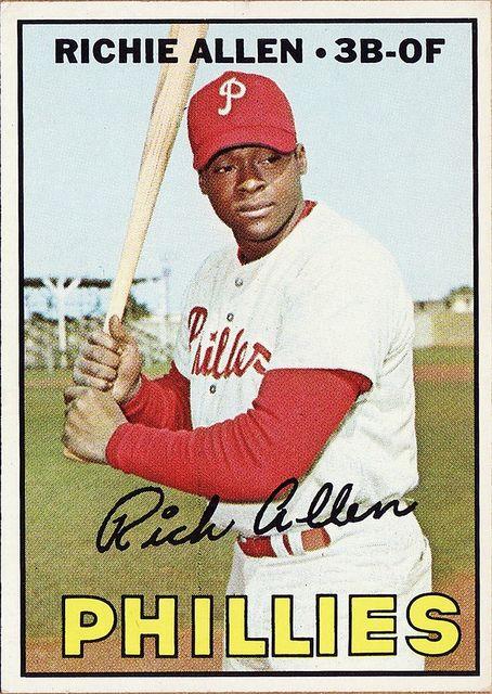 baseball cards     richie allen 1966   1967 Topps - Richie Allen - Philadelphia Phillies   Flickr - Photo ...