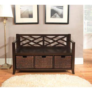 Storage Bench With Baskets Entryway Storage And Basket Storage On Pinterest