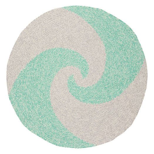 Green & Grey Swirl Rug