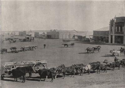 JOHANNESBURG. The market square. South Africa, antique print 1895