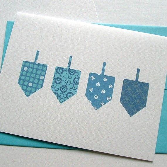dreidel card More