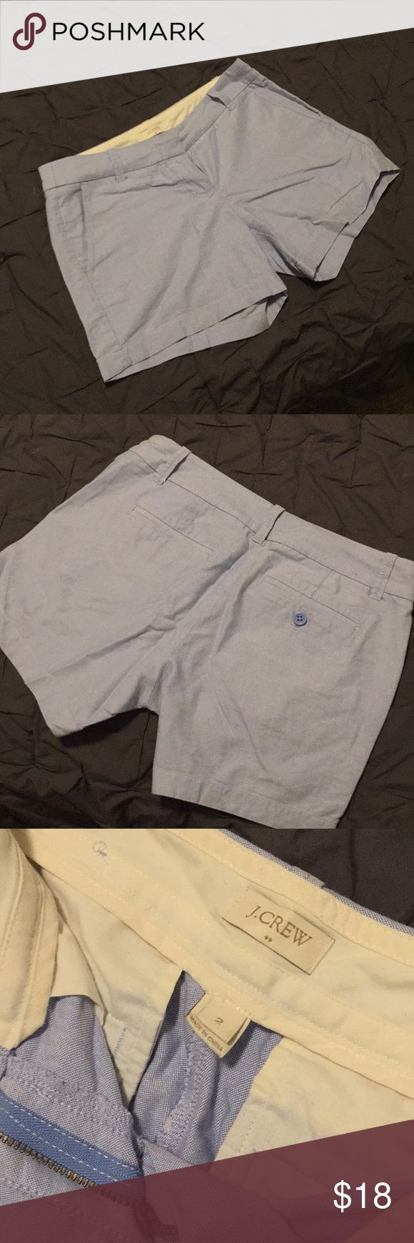 J Crew pastel shorts Like new, cotton light blue shorts from J crew. Has 4 pockets. Has a comfortable loose fit, size 2. J. Crew Shorts