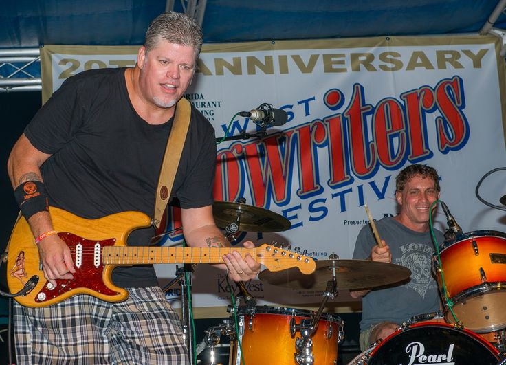 Key West's own rock star Caffeine Carl Wagoner opened the 20th Songwriters Festival.