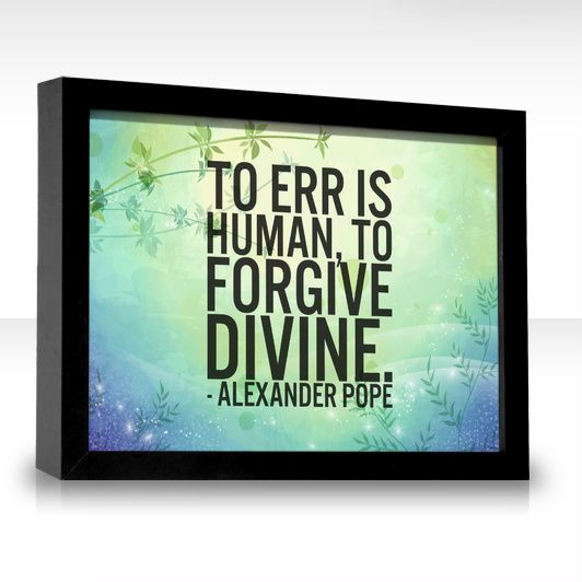 Forgive is divine essay