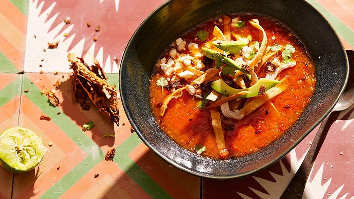 Tortilla soup (sopa Azteca) recipe : SBS Food