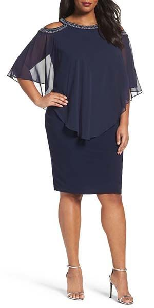 Mother of the Bride Groom Dress Ideas | Navy Cocktail Dress Plus Size