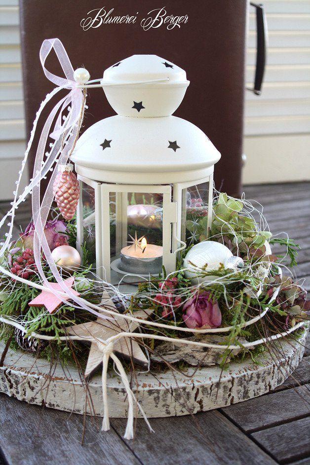 """Weihnachtsdeko - :::: Adventsdeko """" Laterne """" :::: - ein Designerstück von BlumereiBerger bei DaWanda"""