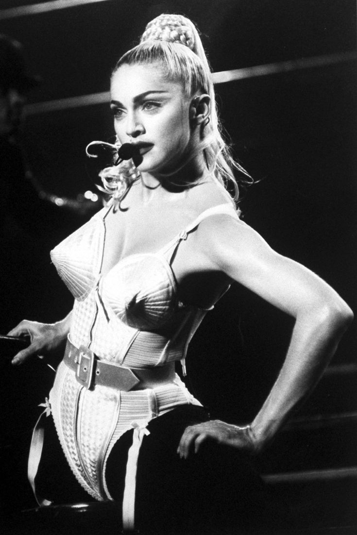 Madonna's coned corset, made for her 1990 Blond Ambition tour by Jean Paul Gaultier goes down in history as next level lingerie. Agreed?