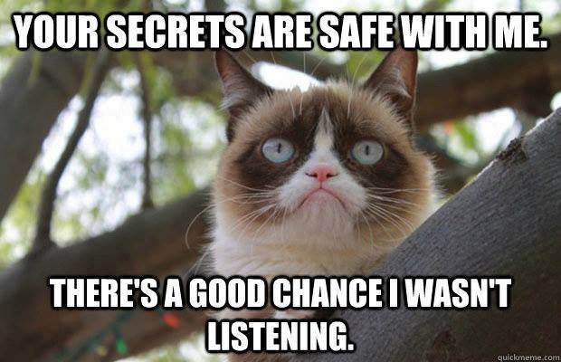 Naughty grumpy cat.....still hoping you come back from the dark side.