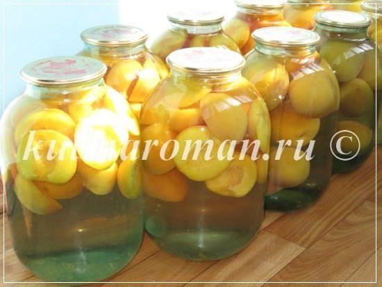 персиковый компот пошаговый рецепт