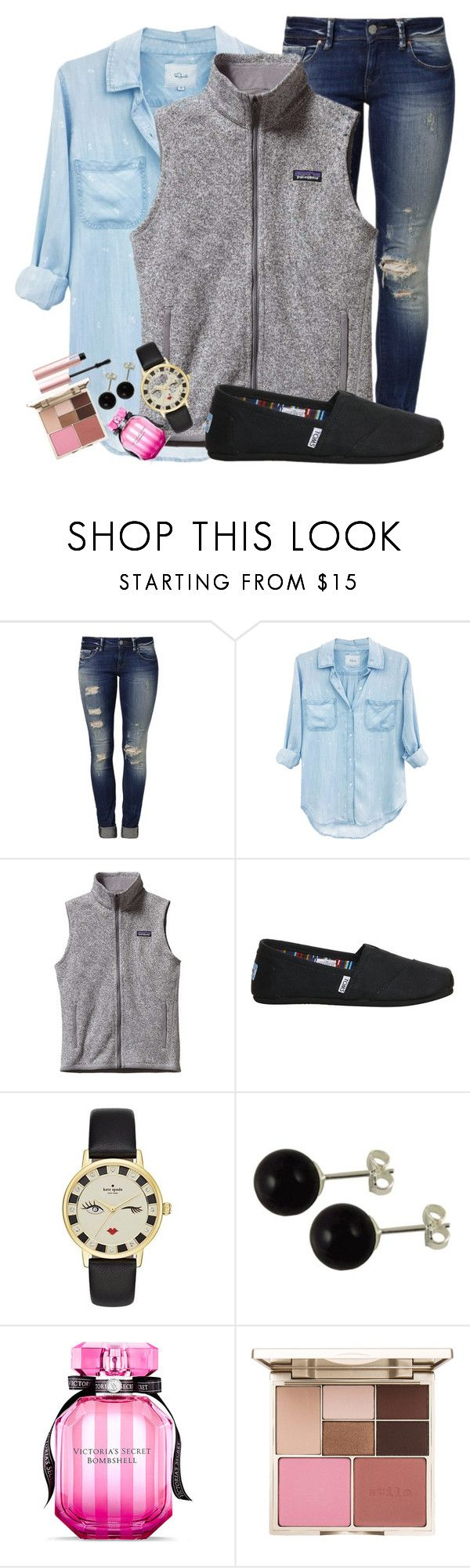 """BRRRRR......"" by kenzie75 on Polyvore featuring Mavi, Rails, Patagonia, TOMS, Kate Spade, Victoria's Secret, Stila and Too Faced Cosmetics"