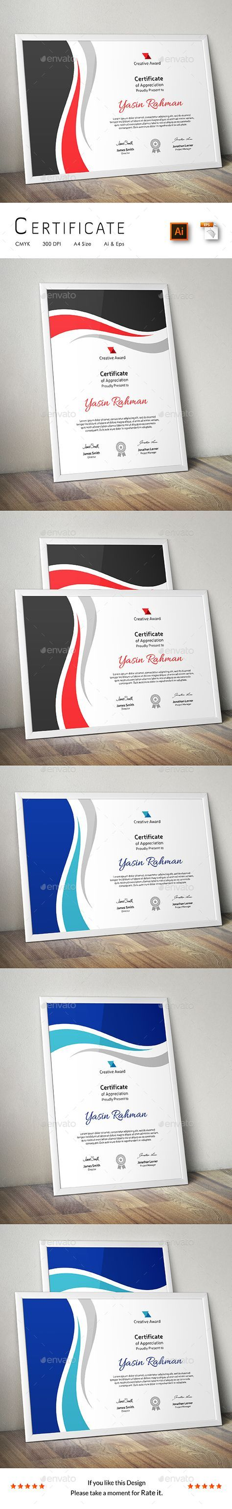 #Certificate - Certificates #Stationery Download here: https://graphicriver.net/item/certificate/15221473?ref=alena994